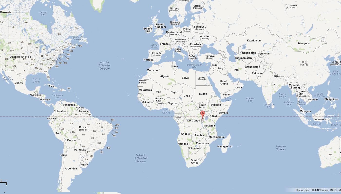 Carte Afrique Rwanda.Le Rwanda Dans La Carte Du Monde Carte Du Rwanda Dans Le