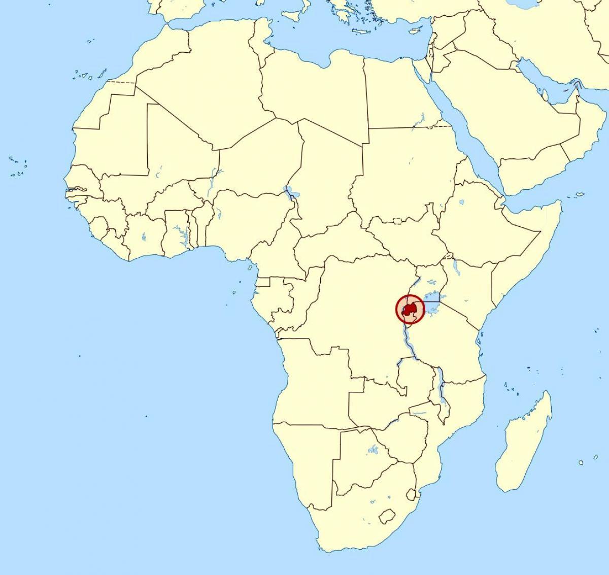 Carte Afrique Rwanda.Le Rwanda Afrique Carte Carte Du Rwanda Afrique Afrique
